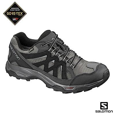 Salomon 登山鞋 低筒 GORETEX 防水 男 EFFECT 黑灰