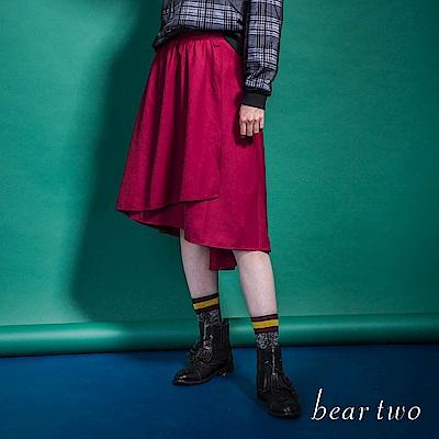 beartwo 前短後長不規則垂墜優雅圓裙(2色)