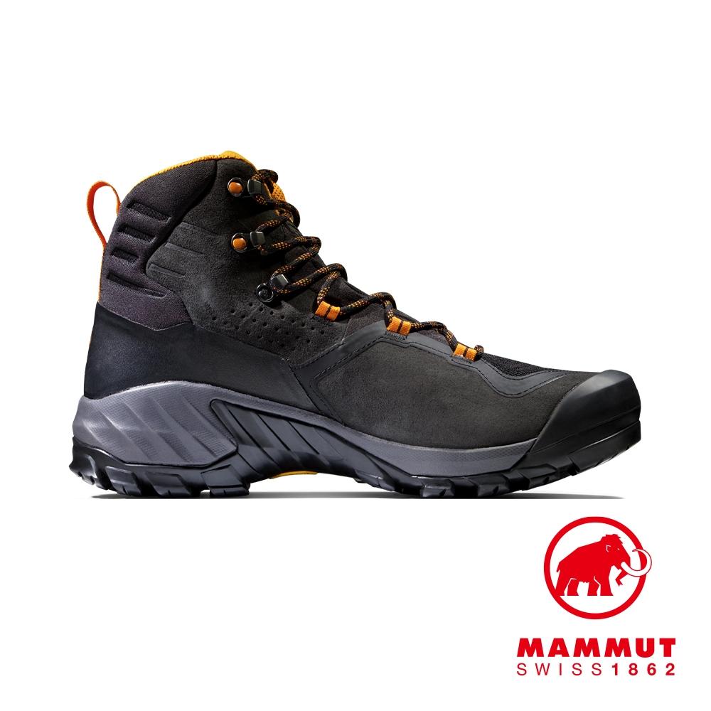 【Mammut】Sapuen High GTX  Men 高筒健行登山鞋 黑/輻射黃 男款 #3030-04240