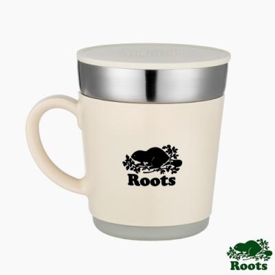 ROOTS X Thermos不銹鋼雙層保溫杯-白