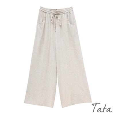 抽繩棉麻寬褲 TATA-(M~XL)