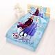 享夢城堡 單人床包涼被三件組-冰雪奇緣FROZEN迪士尼 秋日之森-藍 product thumbnail 1