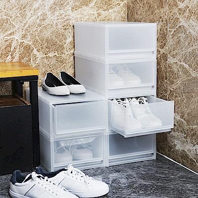 【+O家窩】伊利PP可疊抽屜式鞋盒 -6入