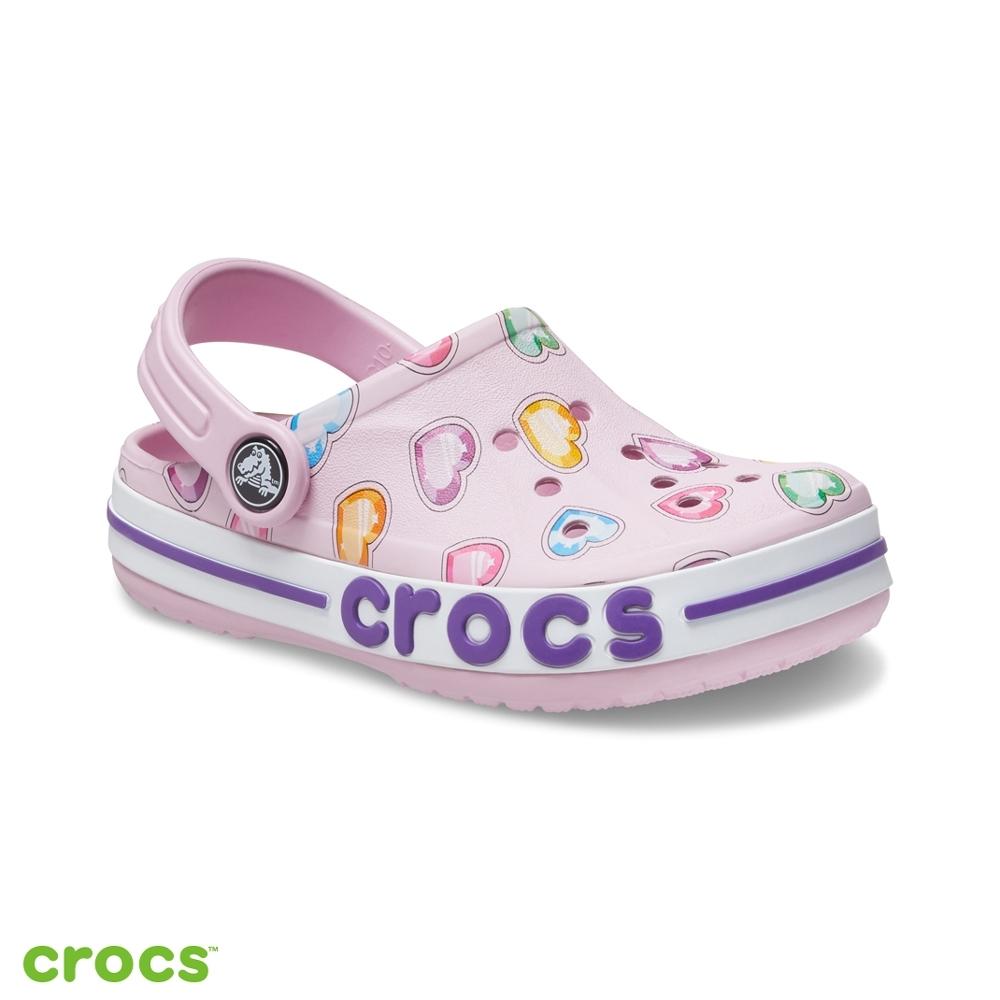 Crocs卡駱馳 (童鞋) 貝雅卡駱班圖案小克駱格-207020-6GD