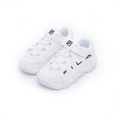 FILA KIDS 大童復古運動鞋-白 3-C642T-111
