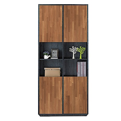 文創集 雷恩現代2.7尺四門書櫃/收納櫃-80x30x185cm免組