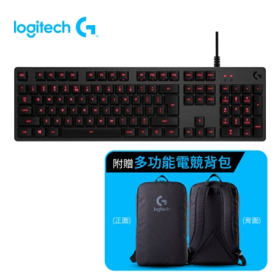 (超值組) 羅技 G413 機械式背光遊戲鍵盤+羅技後背包