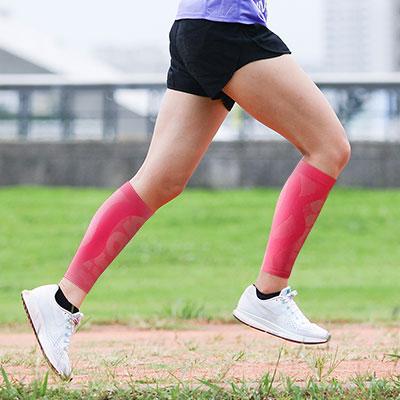 【titan】太肯壓力小腿套__粉紅亮(適合慢跑、馬拉松、自行車、球類運動)