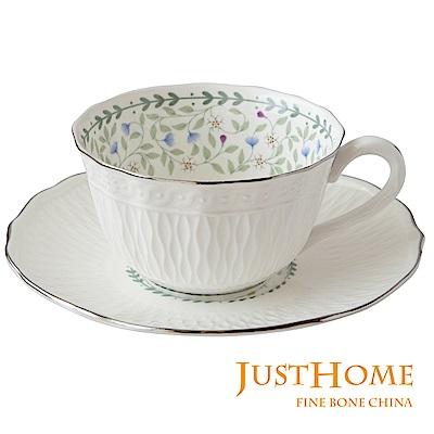 Just Home朵莉新骨瓷 6 入咖啡杯盤組(不附收納架)