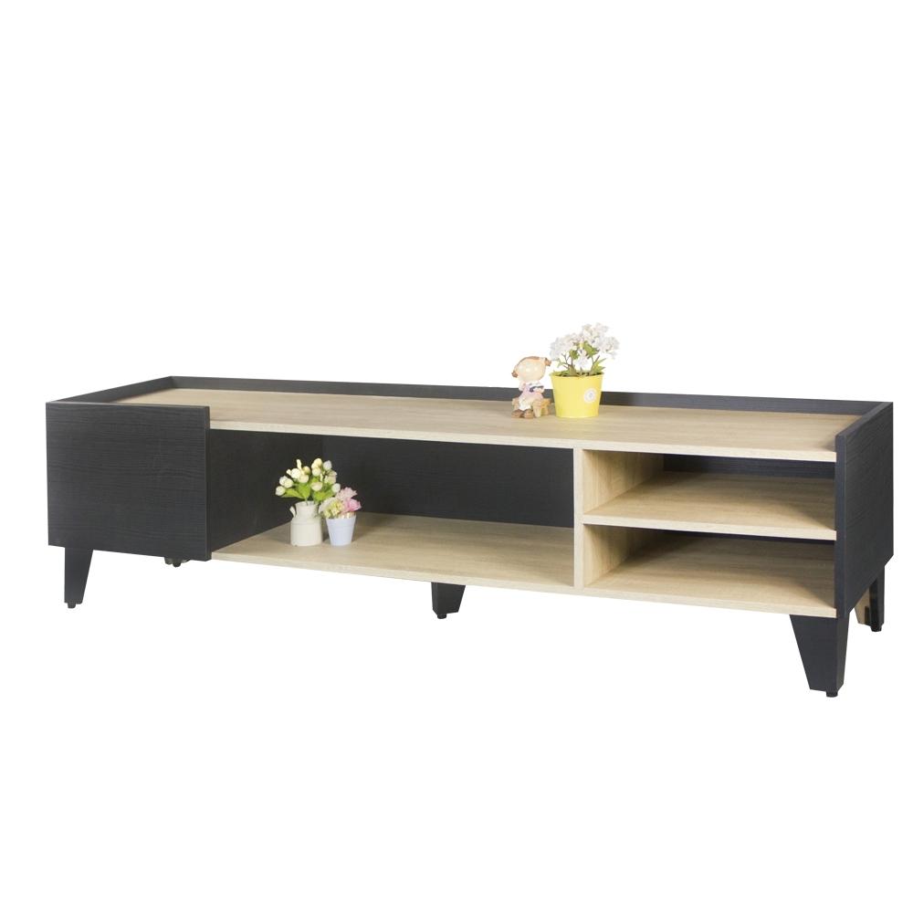 【AT HOME】現代簡約6尺雙色單抽收納電視櫃/長櫃/客廳櫃(艾登)