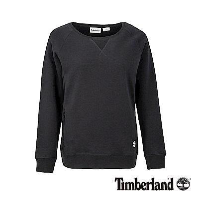 Timberland 女款黑色品牌LOGO運動長袖上衣|B3802