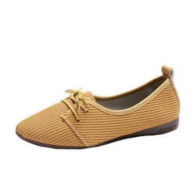 KEITH-WILL時尚鞋館 明星款布面休閒鞋-黃