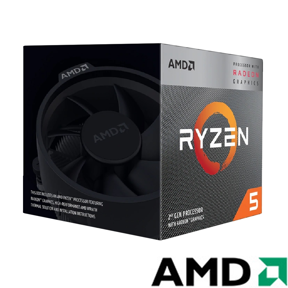 AMD Ryzen5 3400G 3.7GHz 四核心 中央處理器
