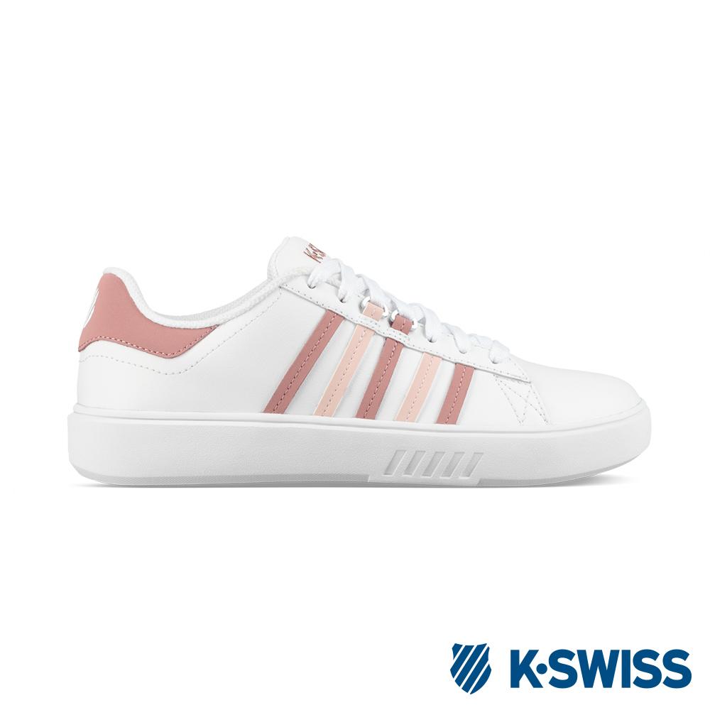 K-SWISS Pershing Court CMF時尚運動鞋-女-白/粉紅