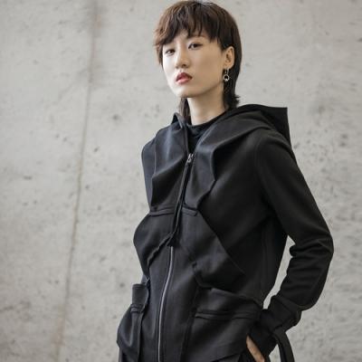 設計所在Style-早秋暗黑風韓版割邊設計衛衣外套