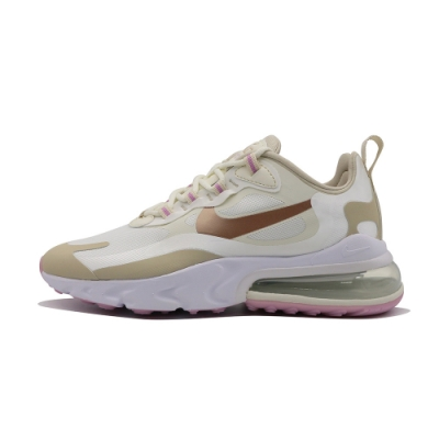 Nike Air Max 270 React 女休閒鞋-白粉-CU9333100