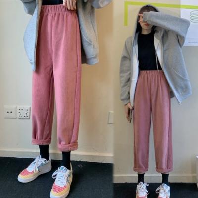 【韓國K.W.】(現貨)小腳顯瘦寬鬆男友風燈籠褲-1色