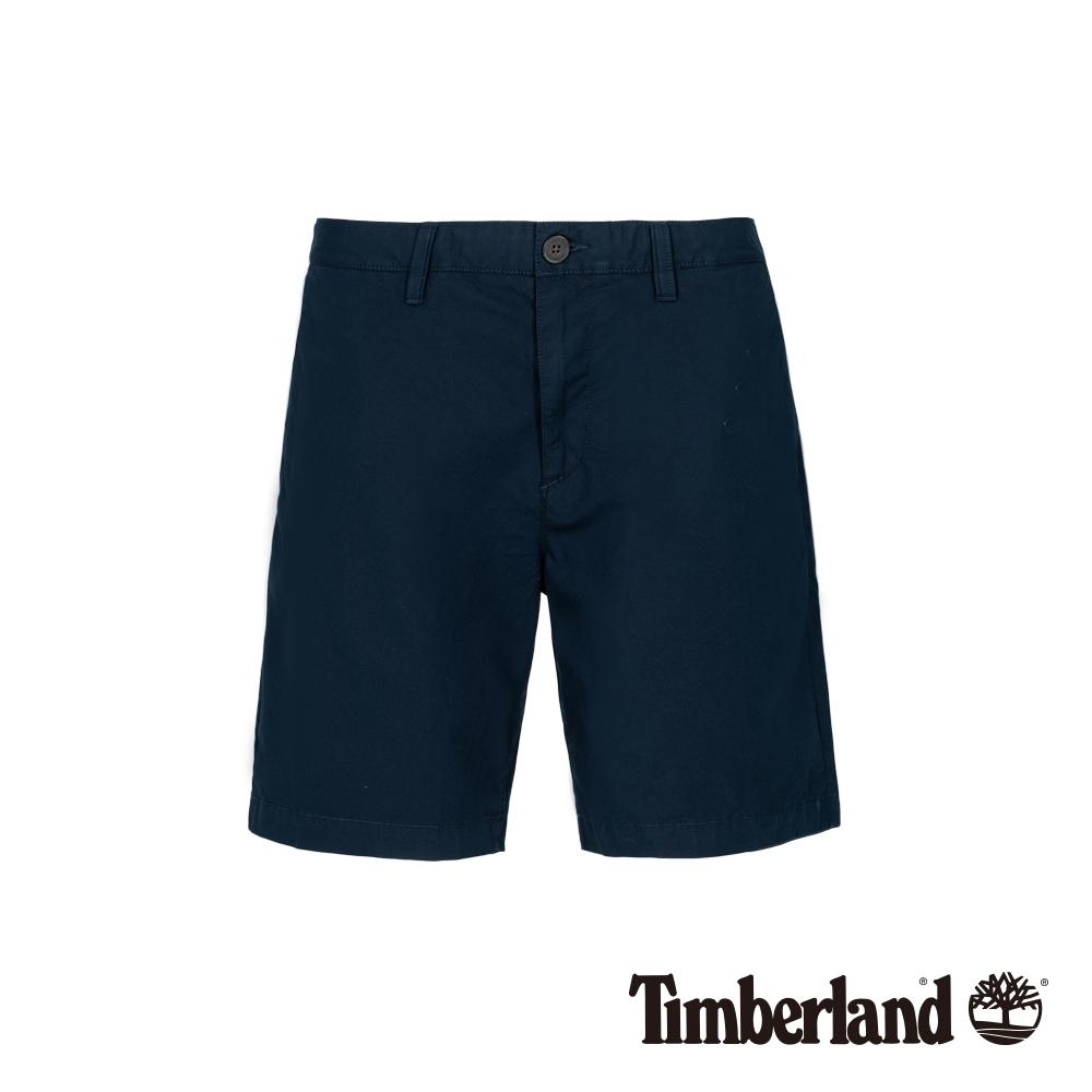 Timberland 男款深藍寶石色彈力直筒卡其短褲|A1WHA
