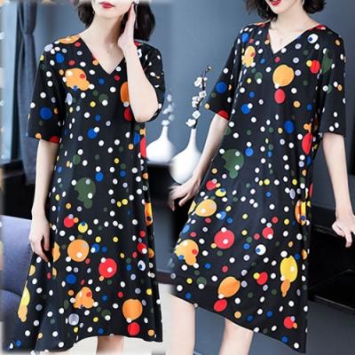 【韓國K.W.】(現貨) 時尚潮流超盛印花洋裝