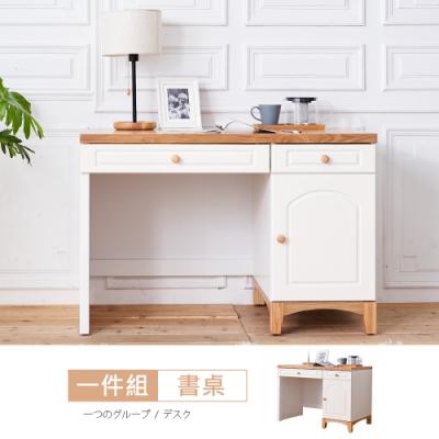 時尚屋 凱絲3.7尺書桌-免運費/免組裝 寬112x深60x高76cm