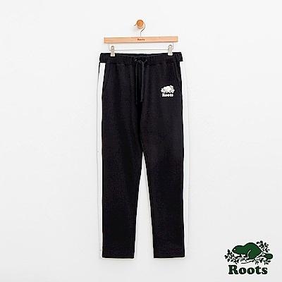 男裝Roots 雙側條紋棉質長褲-黑
