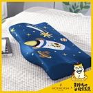 HOYACASAX黃阿瑪聯名系列-防鼾透氣蝶型記憶枕(30x50cm)一入