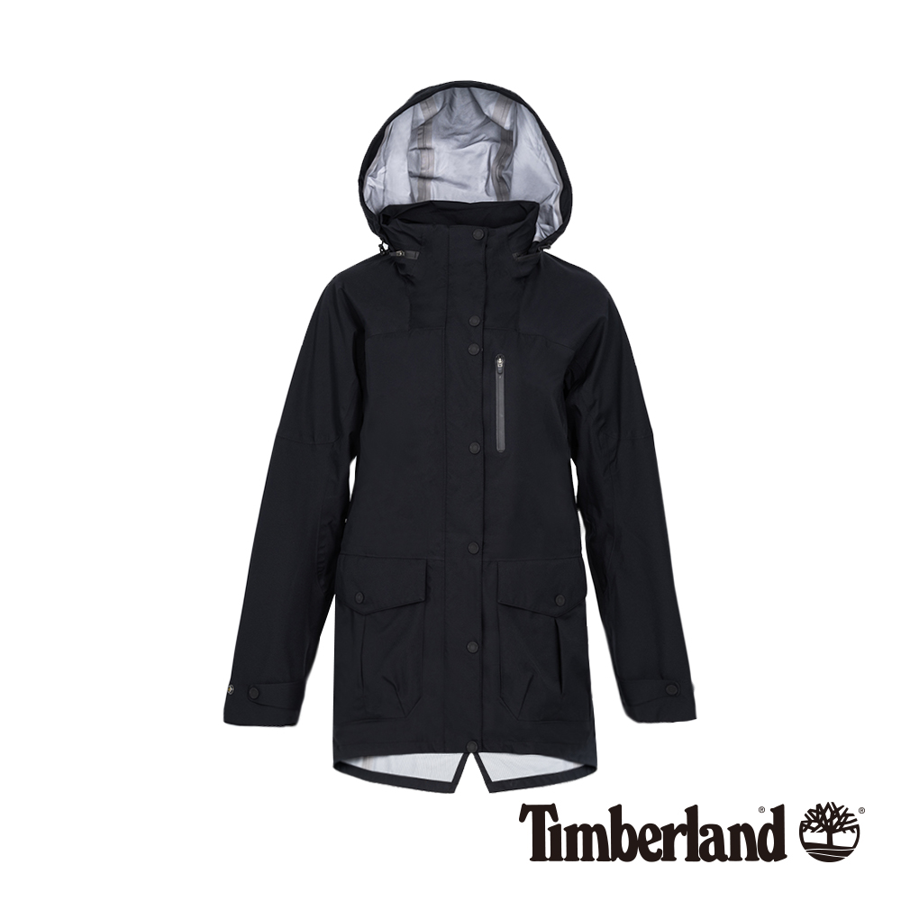 Timberland 女款黑色防水科技戶外外套|B3105