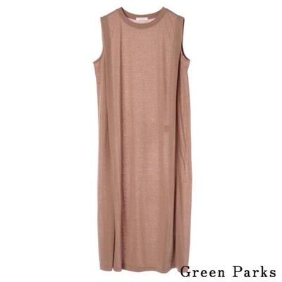 Green Parks  麻混紡無袖剪裁連身裙