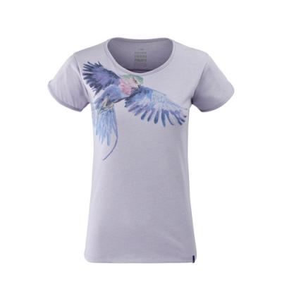 法國【EiDER】女排汗抗UV印花短袖圓領衫 / 9EIV4660-飛鷹紫