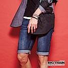 BIG TRAIN 加大日式配布繡花口袋短褲-男-深藍