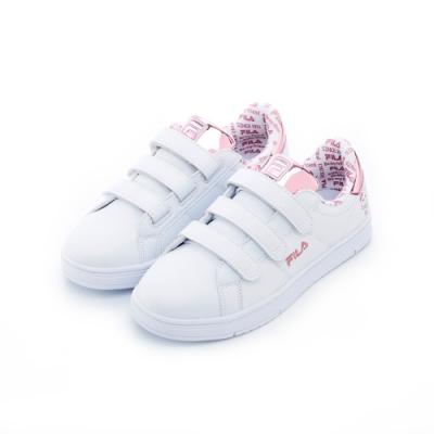FILA 中性潮流復古鞋-粉紅5-C618T-500