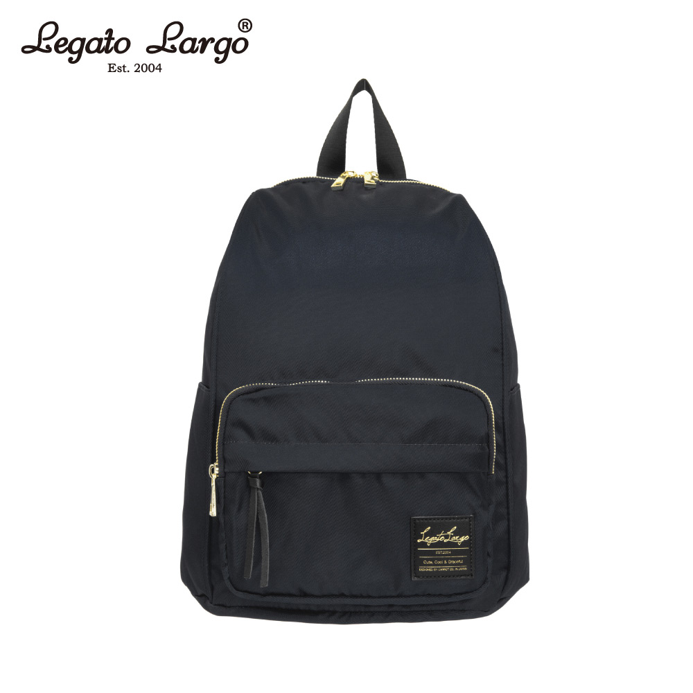 Legato Largo 防潑水簡約後背包-黑 LT-C2151BK