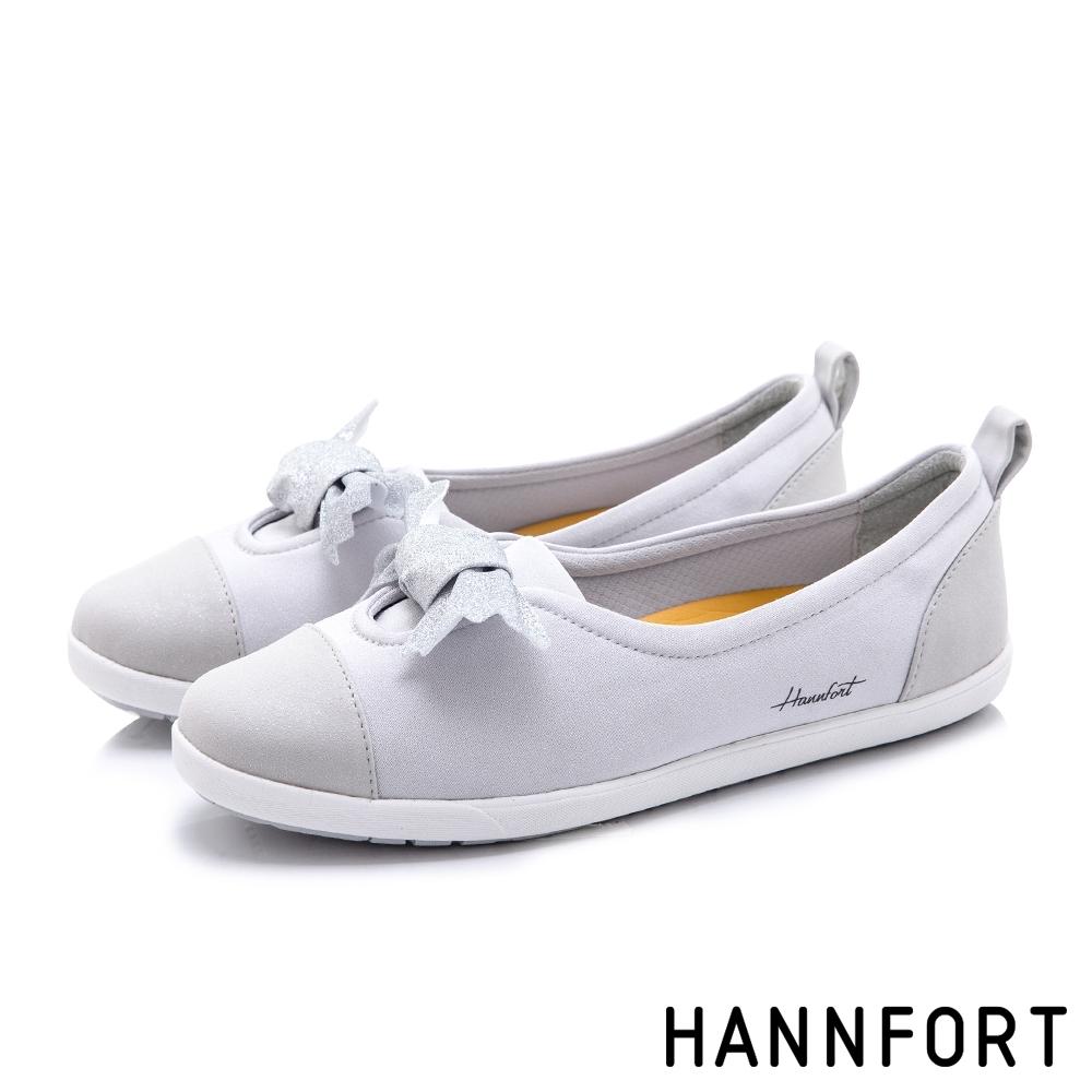 HANNFORT CALIFORNIA 星沙扭結糖果休閒鞋-女-銀