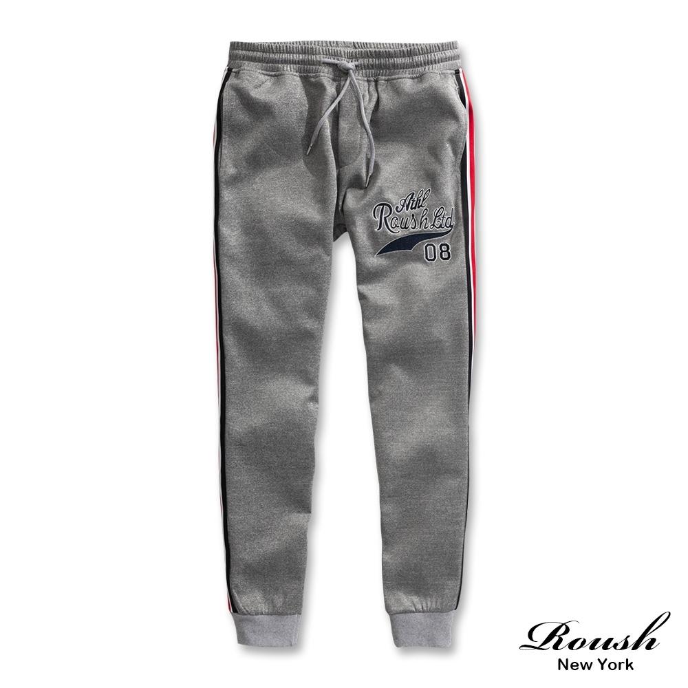 Roush 側織帶美式電繡機能束口棉褲(2色)