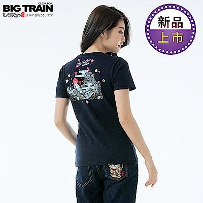 BigTrain 鯉魚旗之夏圓領女T-女-丈青