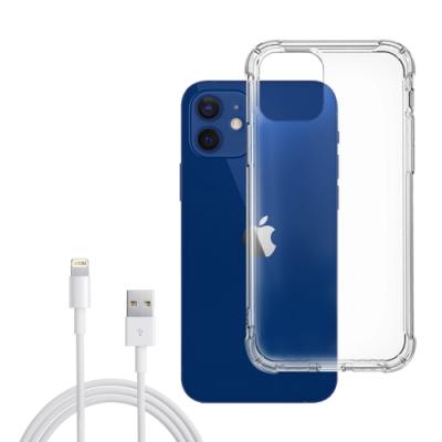 [買手機殼送充電線] iPhone 12 透明 加厚四角 防摔 氣囊 手機殼 防摔殼 (iPhone12手機殼 iPhone12保護殼 iPhone12保護套)