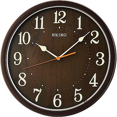 SEIKO精工 歐風時尚 滑動式秒針靜音掛鐘(QXA718B)-31cm