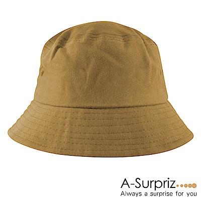 A-Surpriz 韓風純色漁夫帽(土黃)