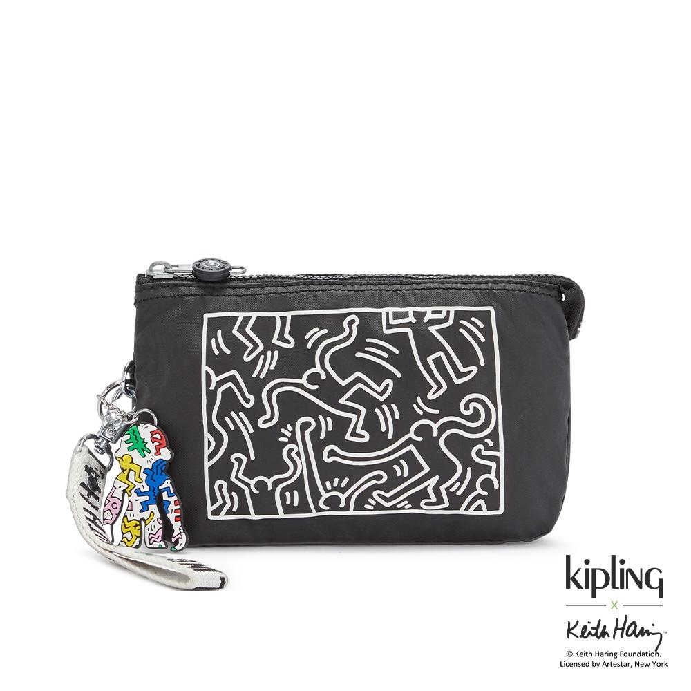 Kipling x Keith Haring 限量聯名系列粉筆藝術多層配件包-CREATIVITY XL