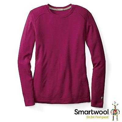 SmartWool 女NTS 250 100%美麗諾羊毛 圓領長袖衫 紫莓色 L