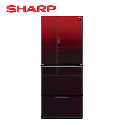 SHARP夏普 601L 1級變頻6門電冰箱 SJ-GF60BT-R 星鑽紅