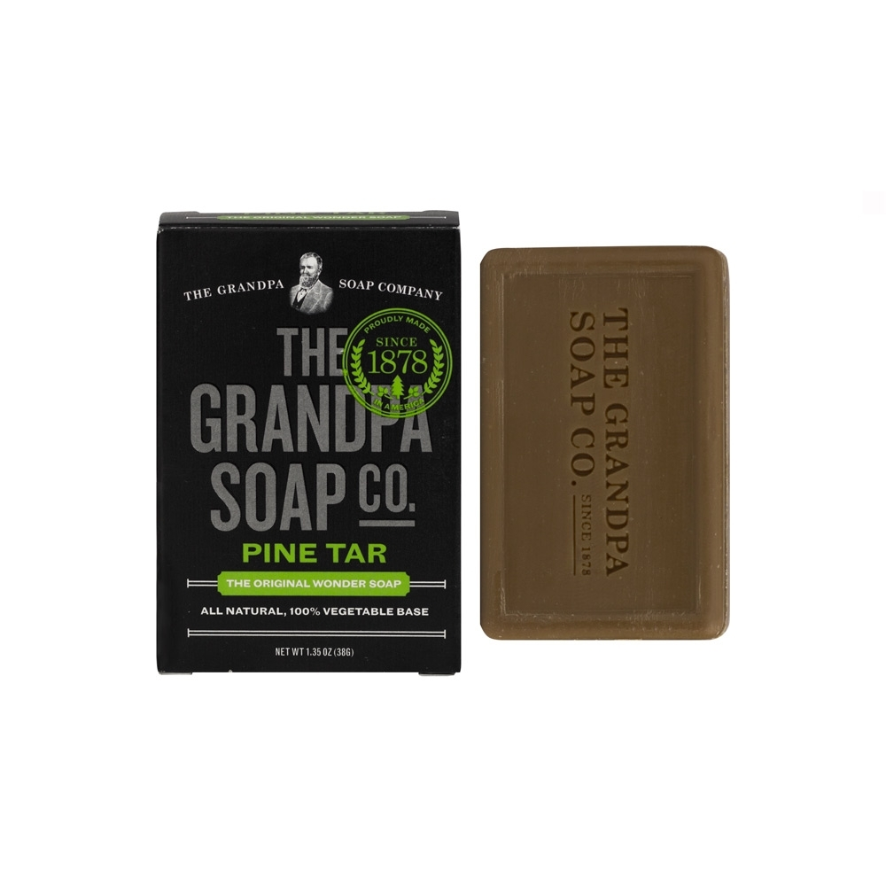Grandpa 神奇爺爺 神奇妙松焦油護膚皂 1.35 oz x 10入 (盒損)