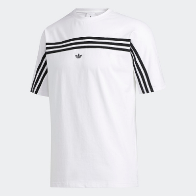 adidas 短袖上衣 健身 慢跑 運動 休閒 男款 白 FM1529 ORIGINALS 3-STRIPES