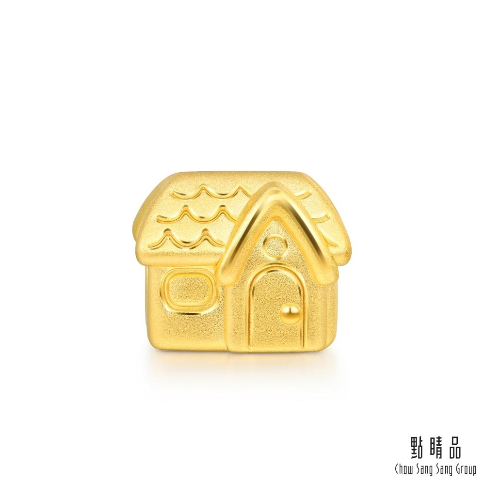 點睛品 Charme 新生彌月-房子 黃金串珠