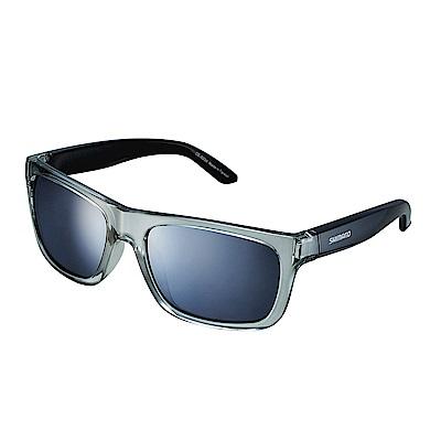 【SHIMANO】TOKYO 太陽眼鏡 透明灰色鏡框 (銀色煙燻鏡面鏡片)
