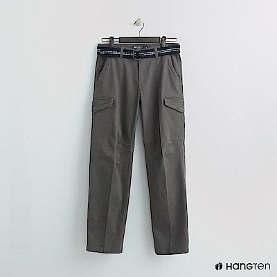 Hang Ten - 男裝 - 腰帶造型口袋休閒褲 - 卡其