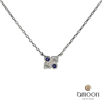 amoon 璀璨星空系列 雙星奇緣 K金鑽石項鍊
