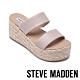 STEVE MADDEN-JOLTED 側邊鬆緊雙粗帶楔型拖鞋-珊瑚粉 product thumbnail 1