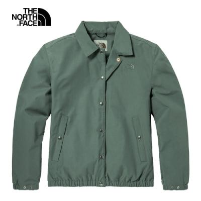 The North Face北面女款綠色防潑水防風外套|4U9WV38