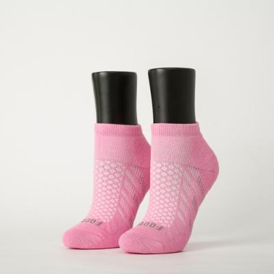 Footer除臭襪-輕壓力氣墊機能襪-六雙入(黑*2+粉紅*2+紫*2)